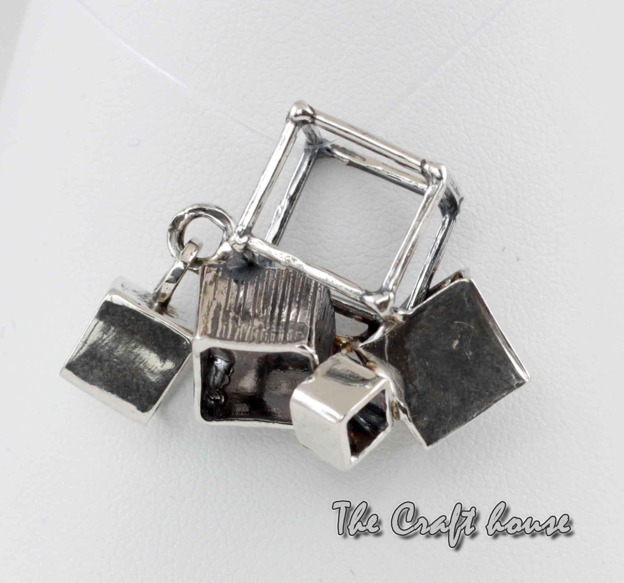 Silver pendant 'Cubes'