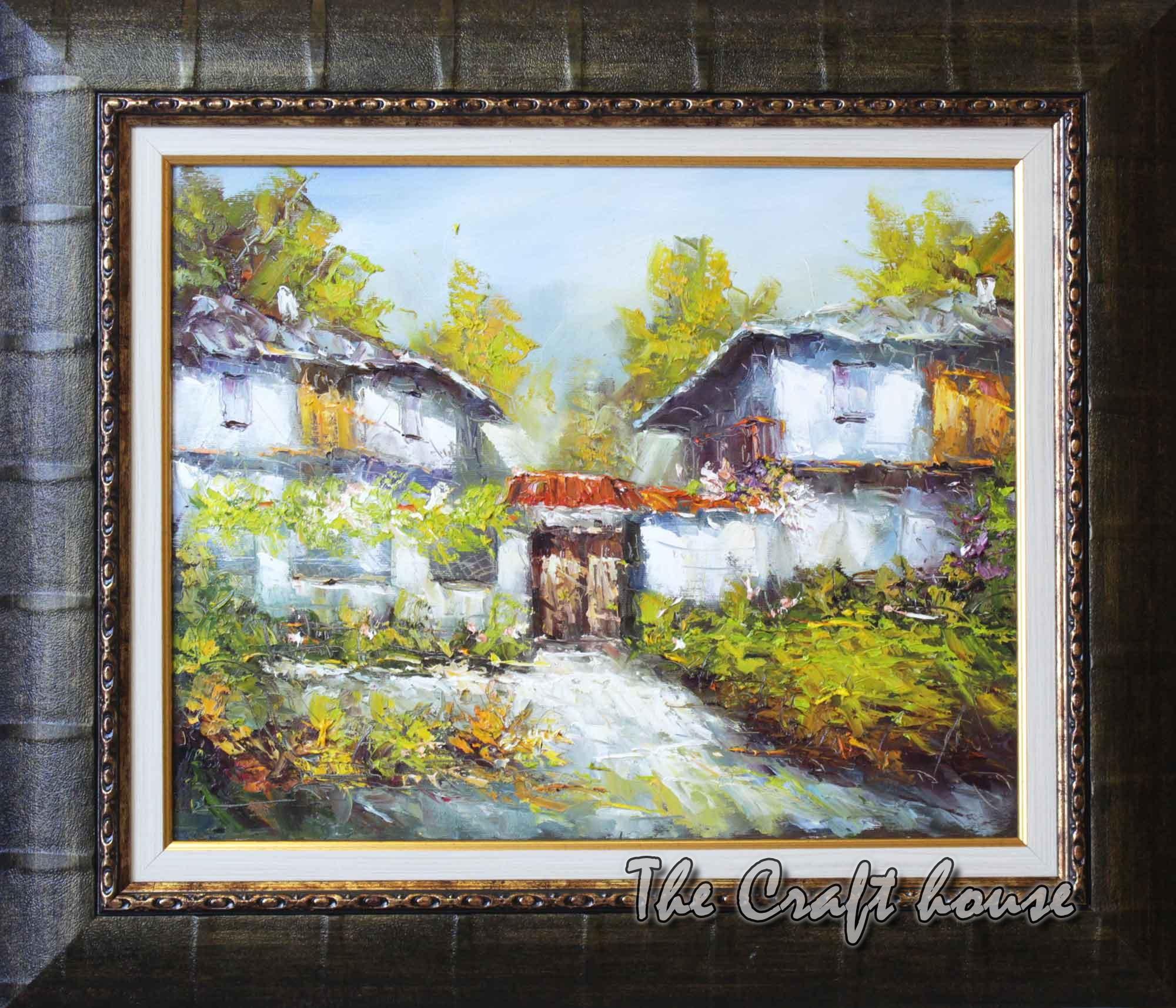 Пейзаж със селски къщи