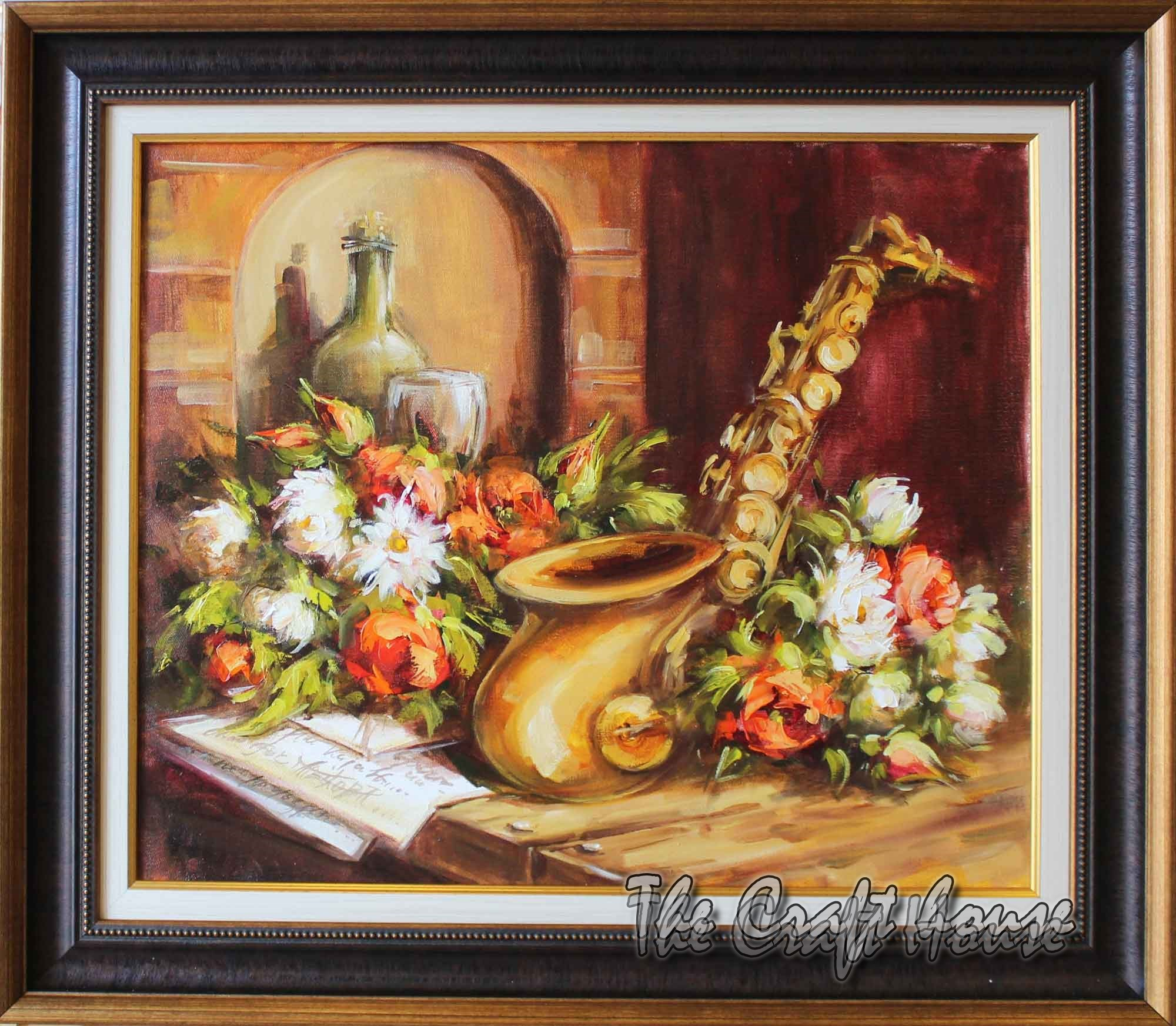 Still life with saxophone