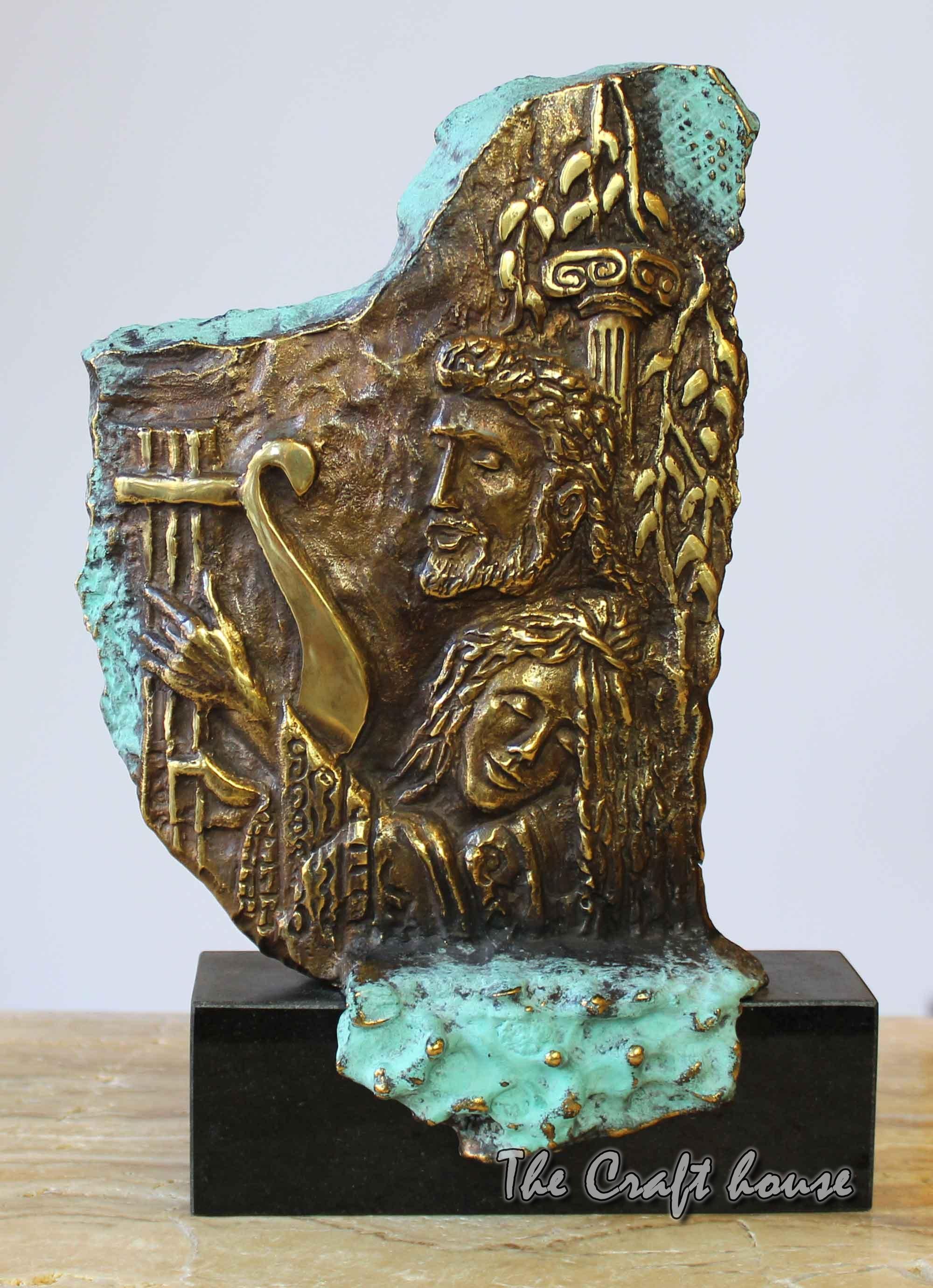 Bronze sculpture 'Orpheus and Eurydice'
