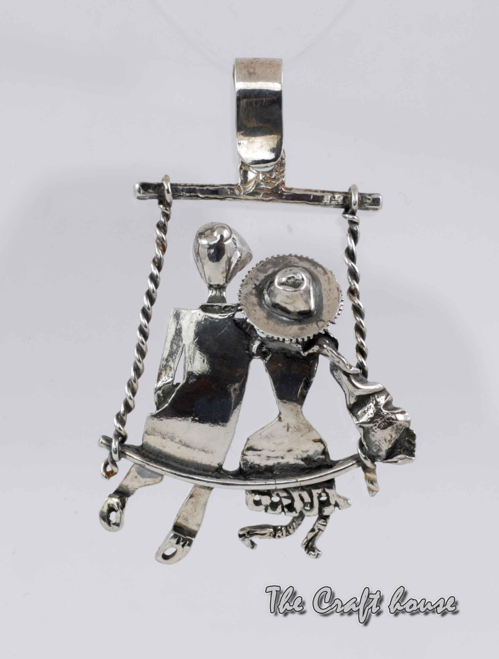 Silver pendant  'Love'