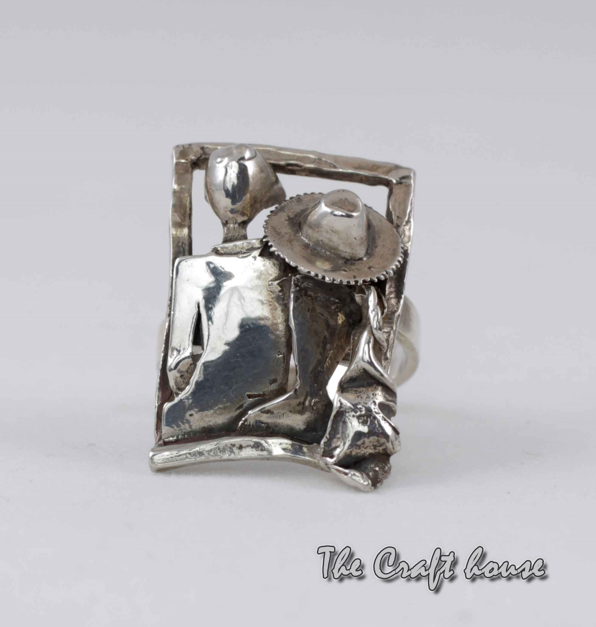 Silver ring 'Love'