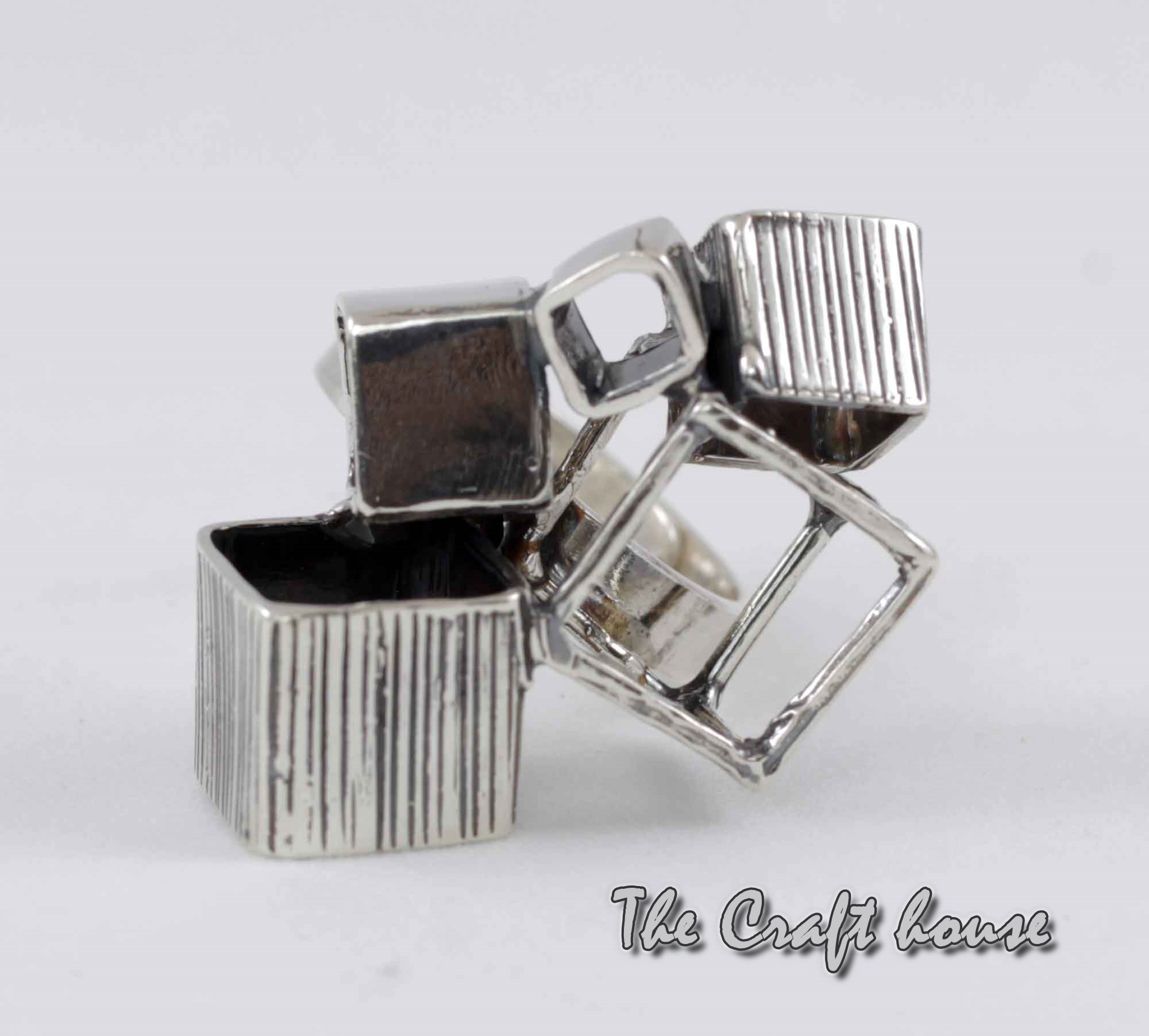 Silver ring 'Cubes'