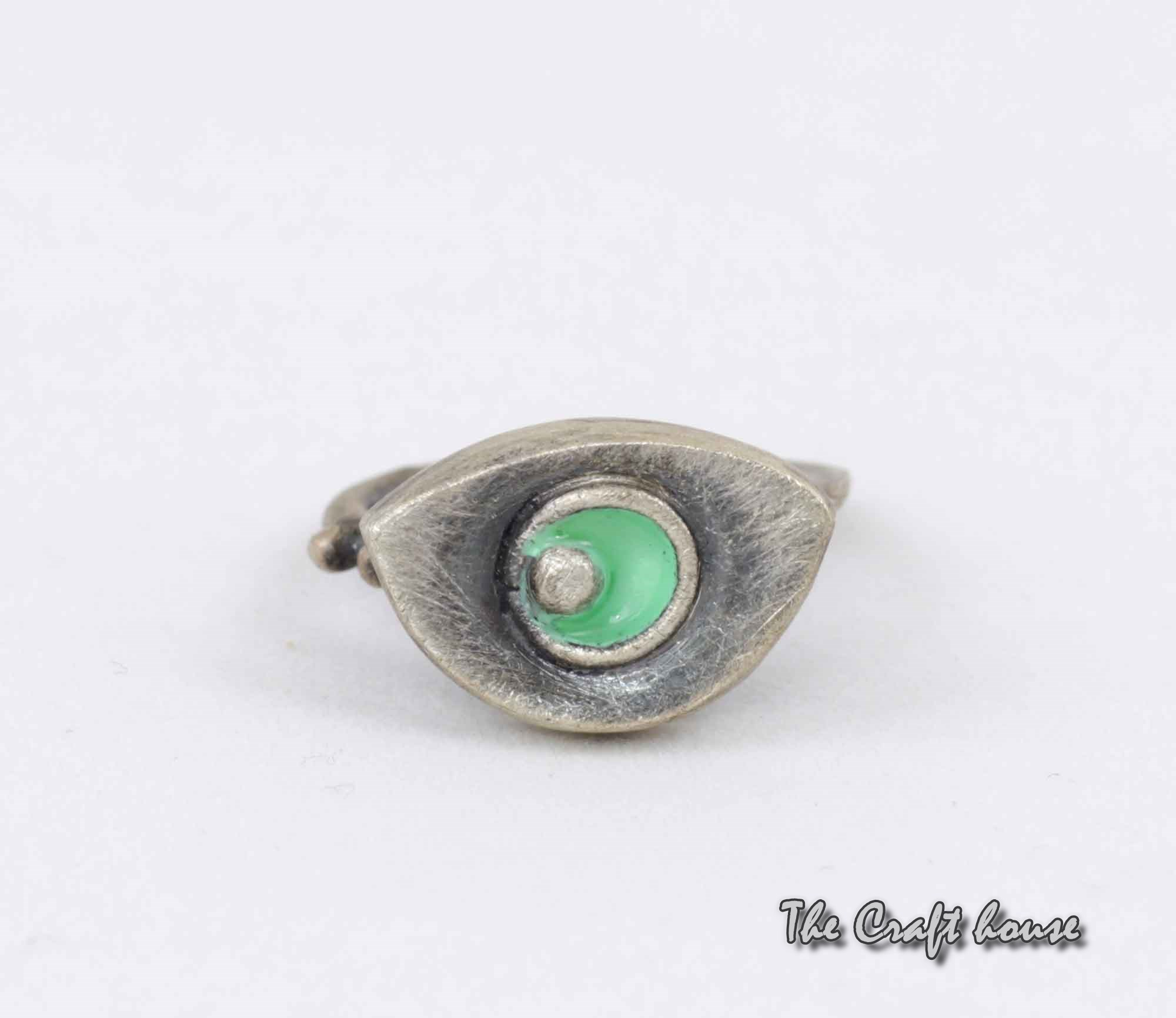 Silver ring with enamel