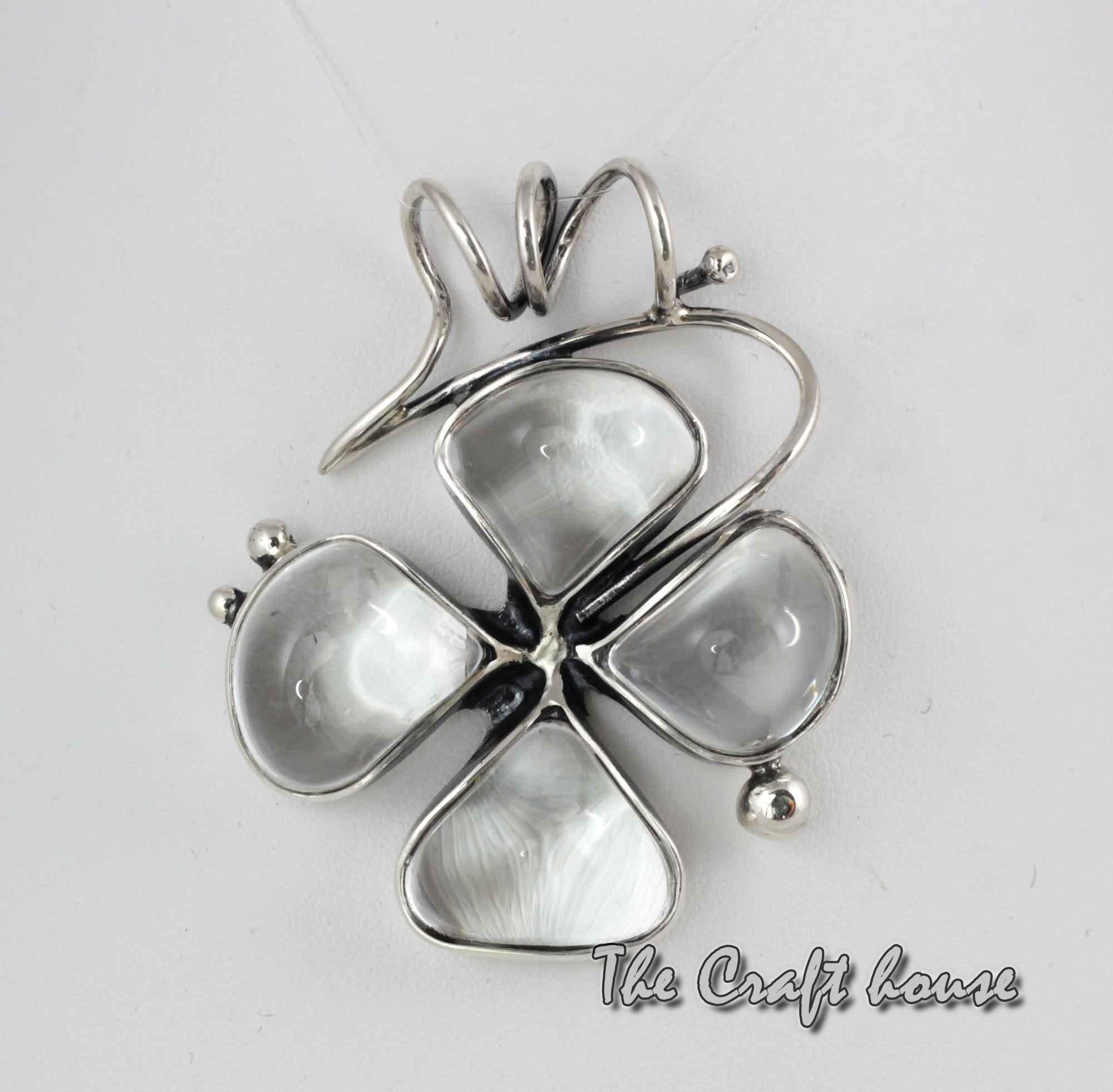 Silver pendant 'Clover'