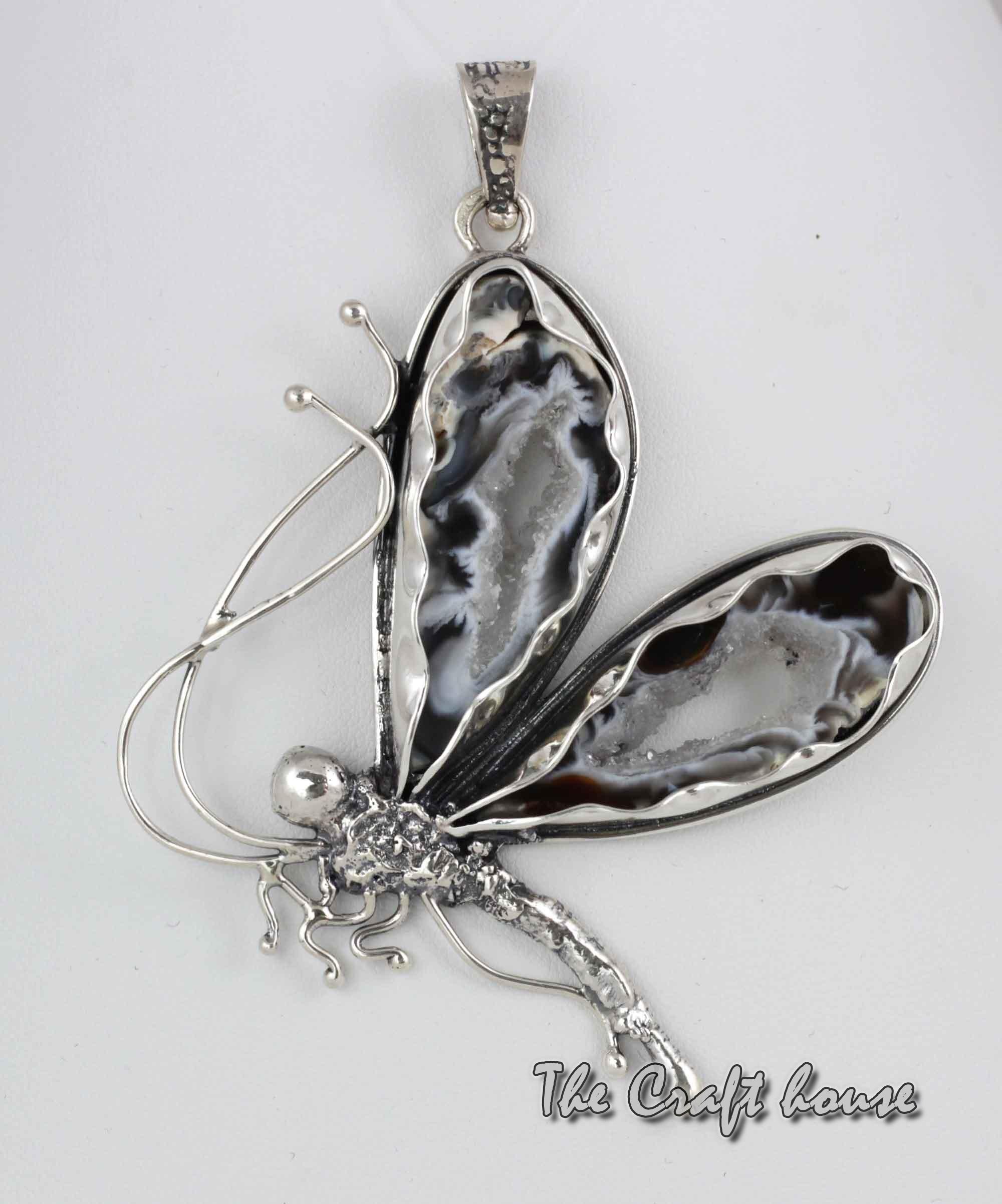 Silver pendant Butterfly