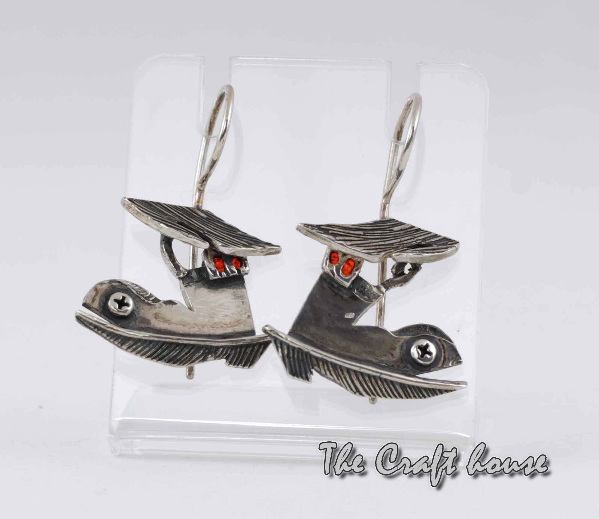 Silver earrings 'Shoe house'