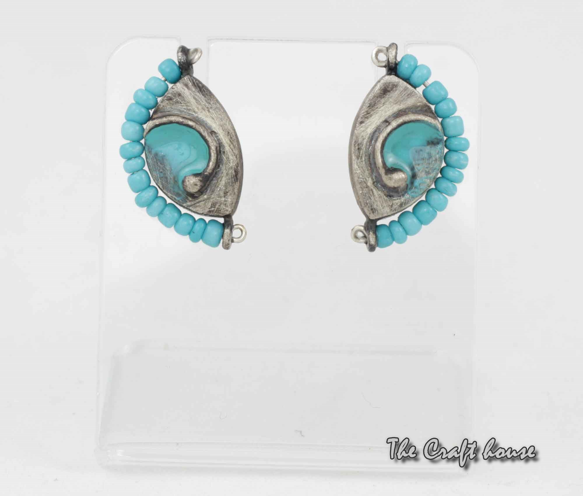 Silver earrings with Turquoise and enamel