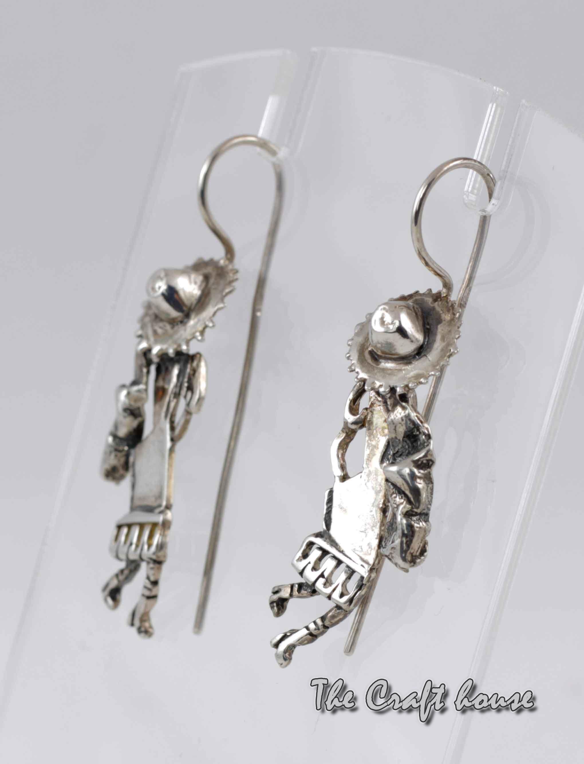 Silver earrings 'Love'