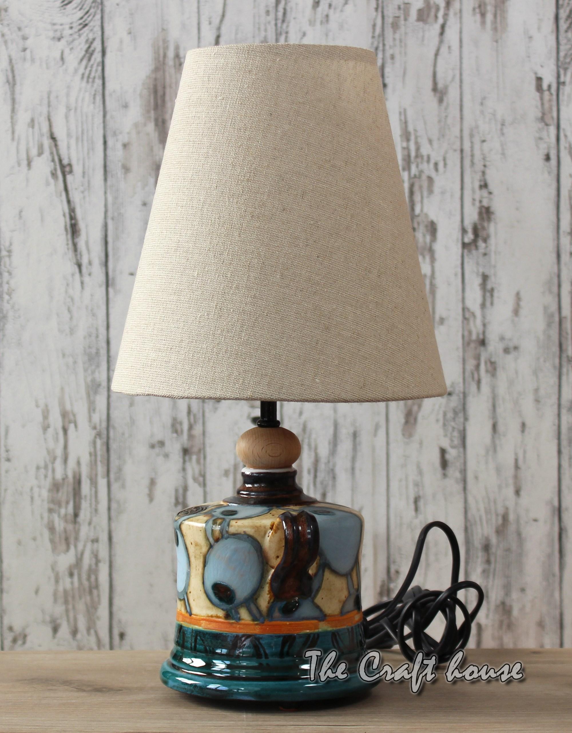 Ceramic lamp 'Blue apples'
