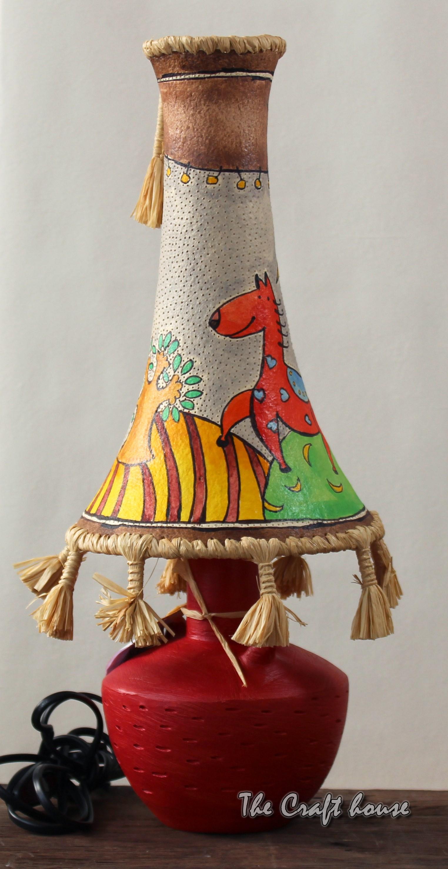 Ceramic lamp 'Red foal'