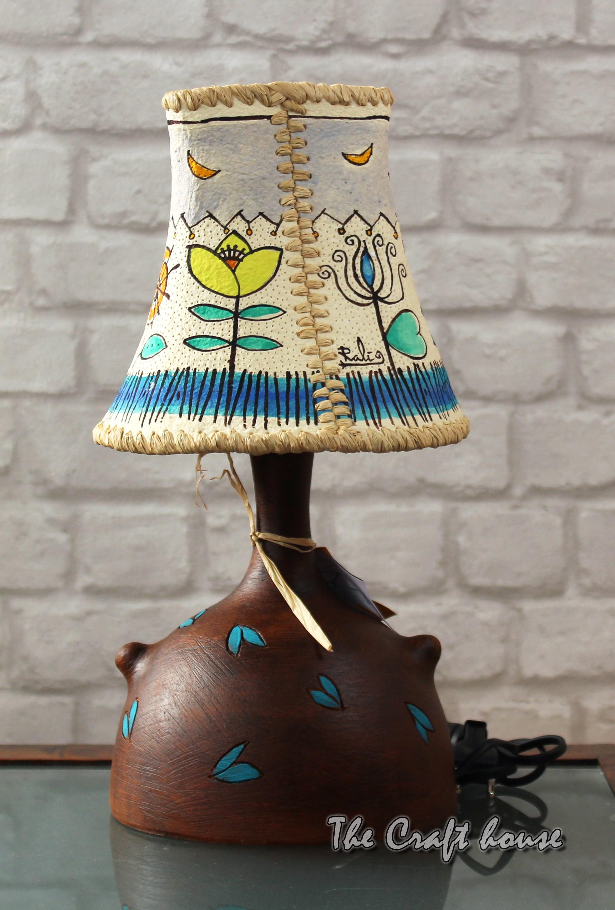 Ceramic lamp 'Flowers'