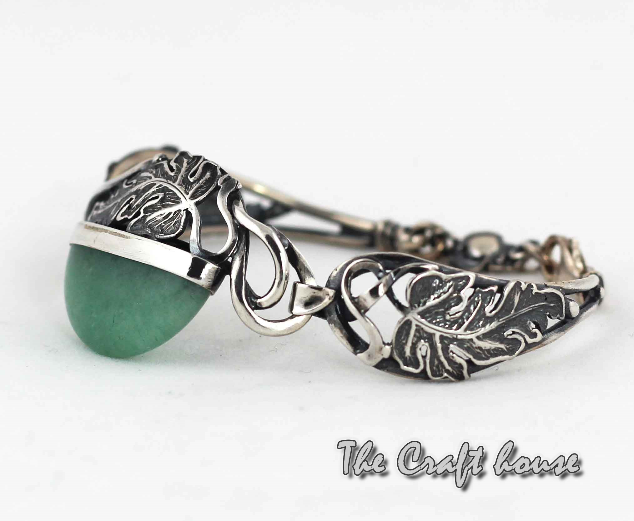 Silver bracelet with Aventurine