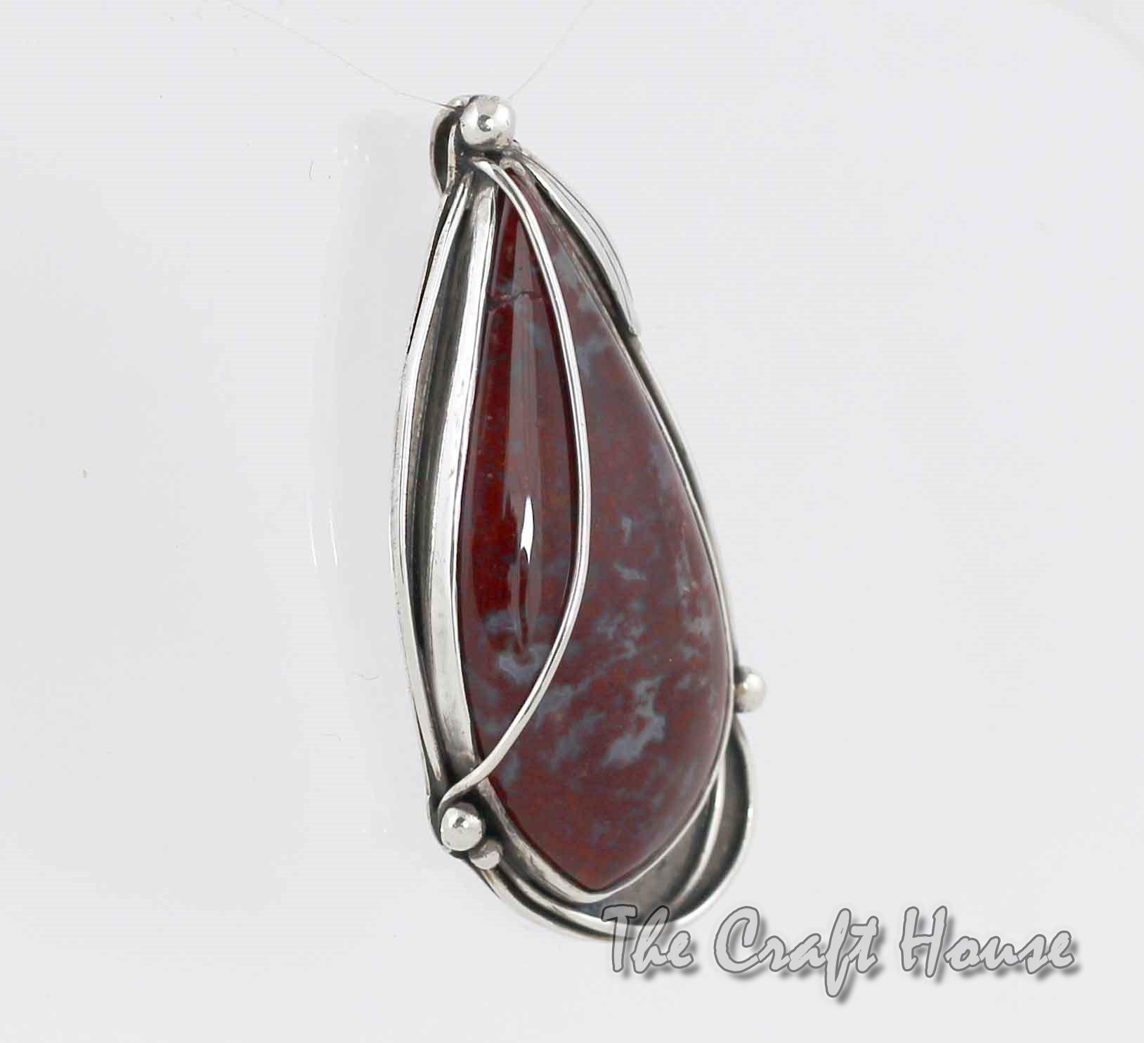 Silver pendant with Jasper
