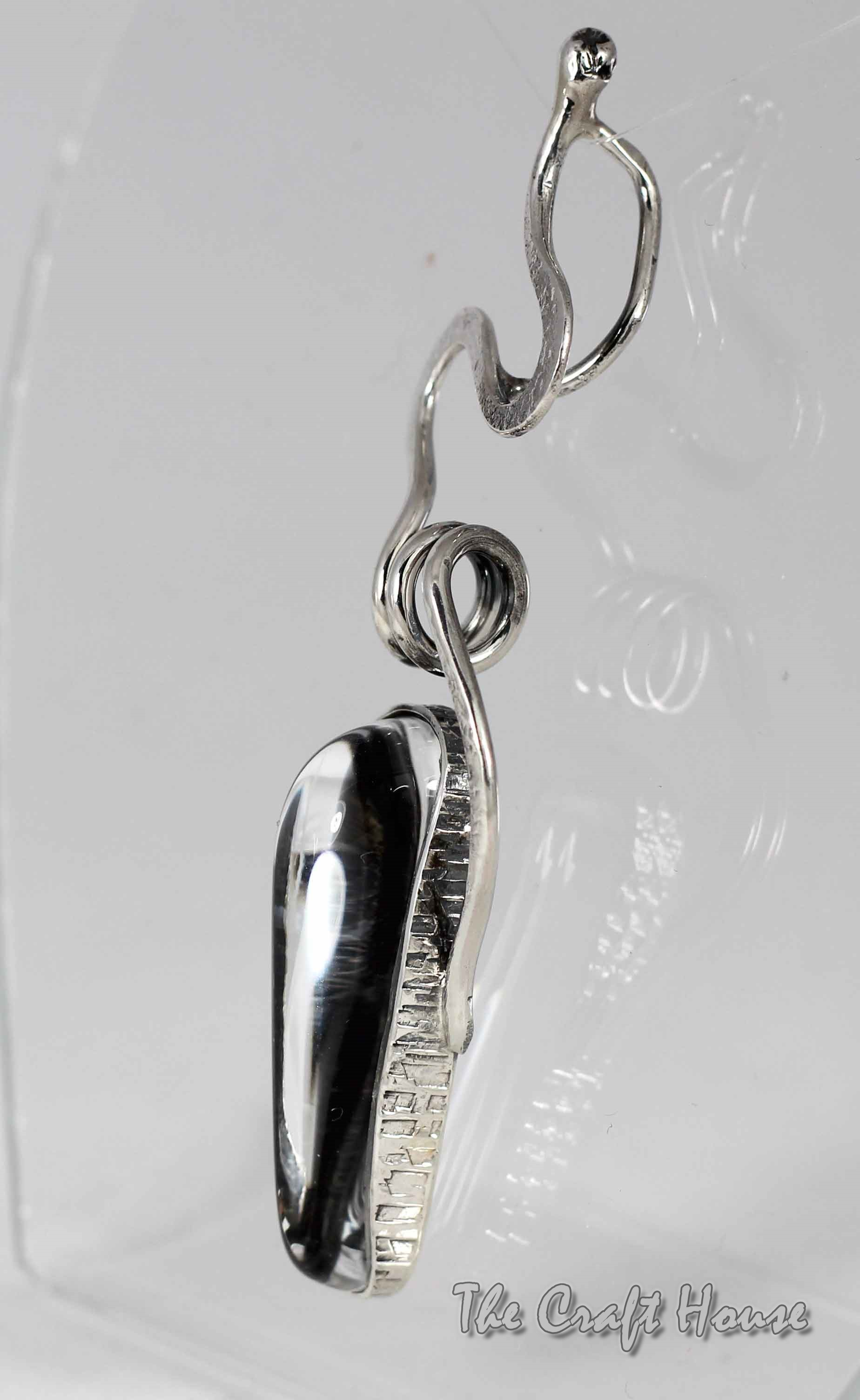 Silver pendant with Rock crystal