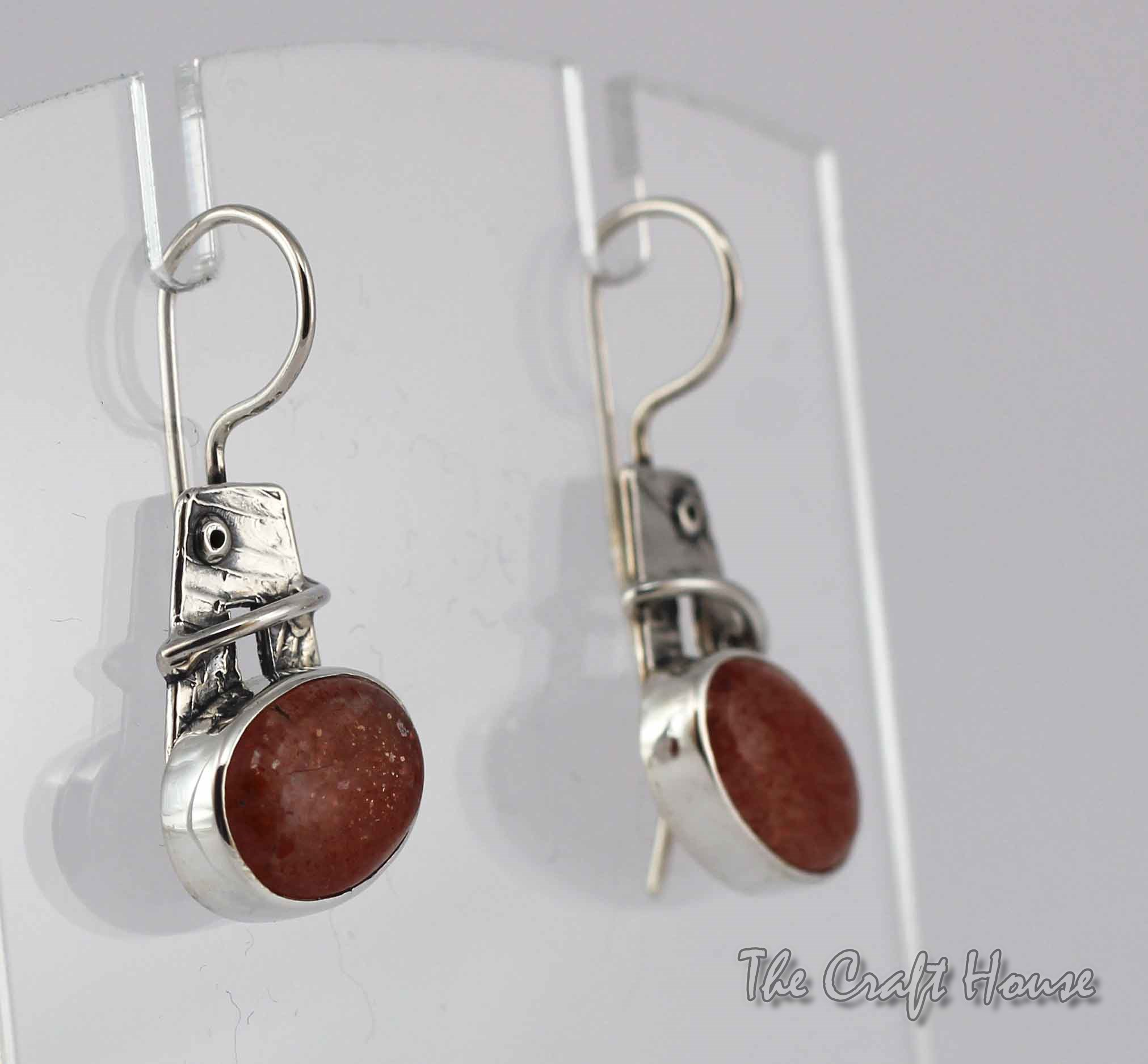 Silver earrings with Sunstone