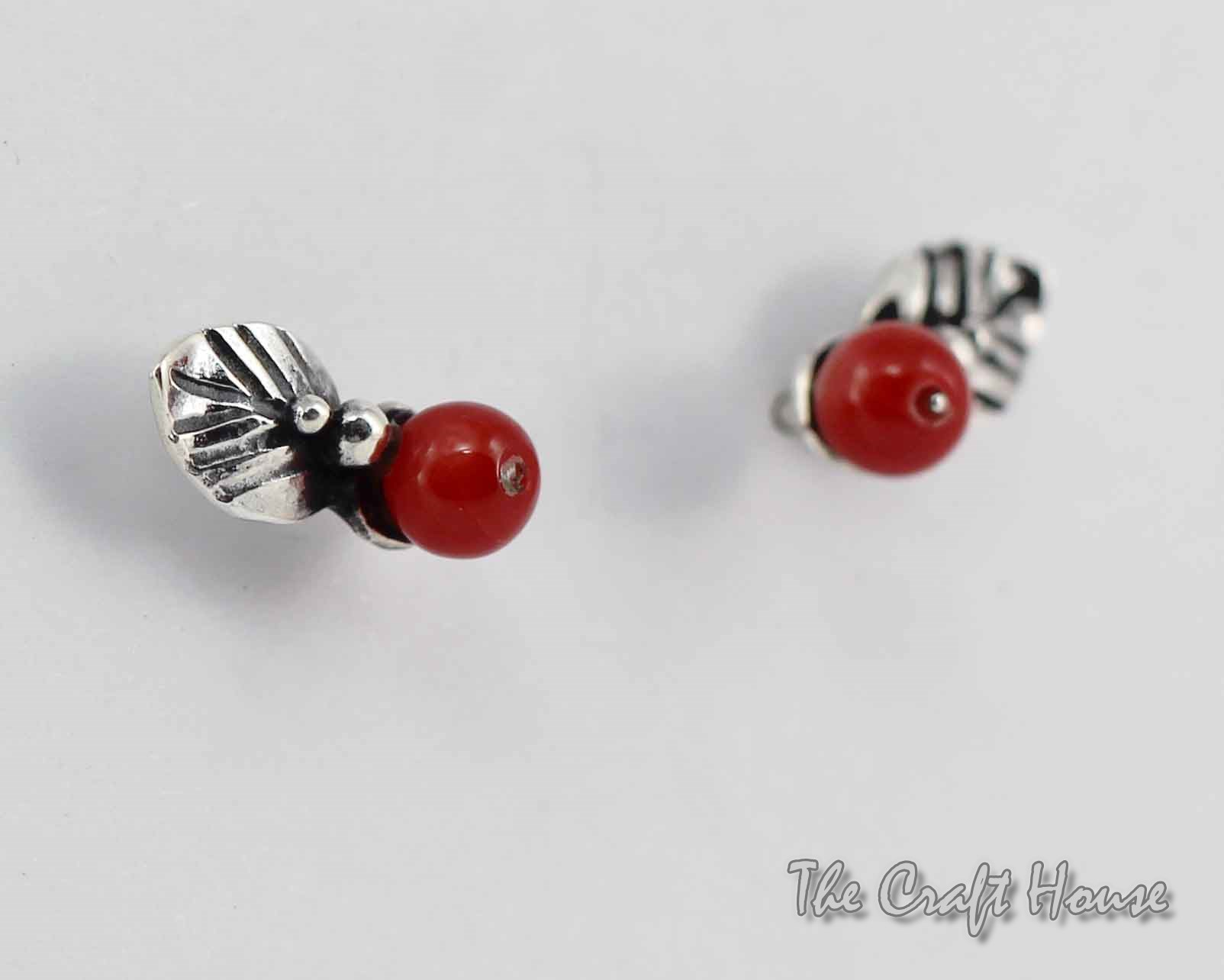 Silver earrings with Carnelian