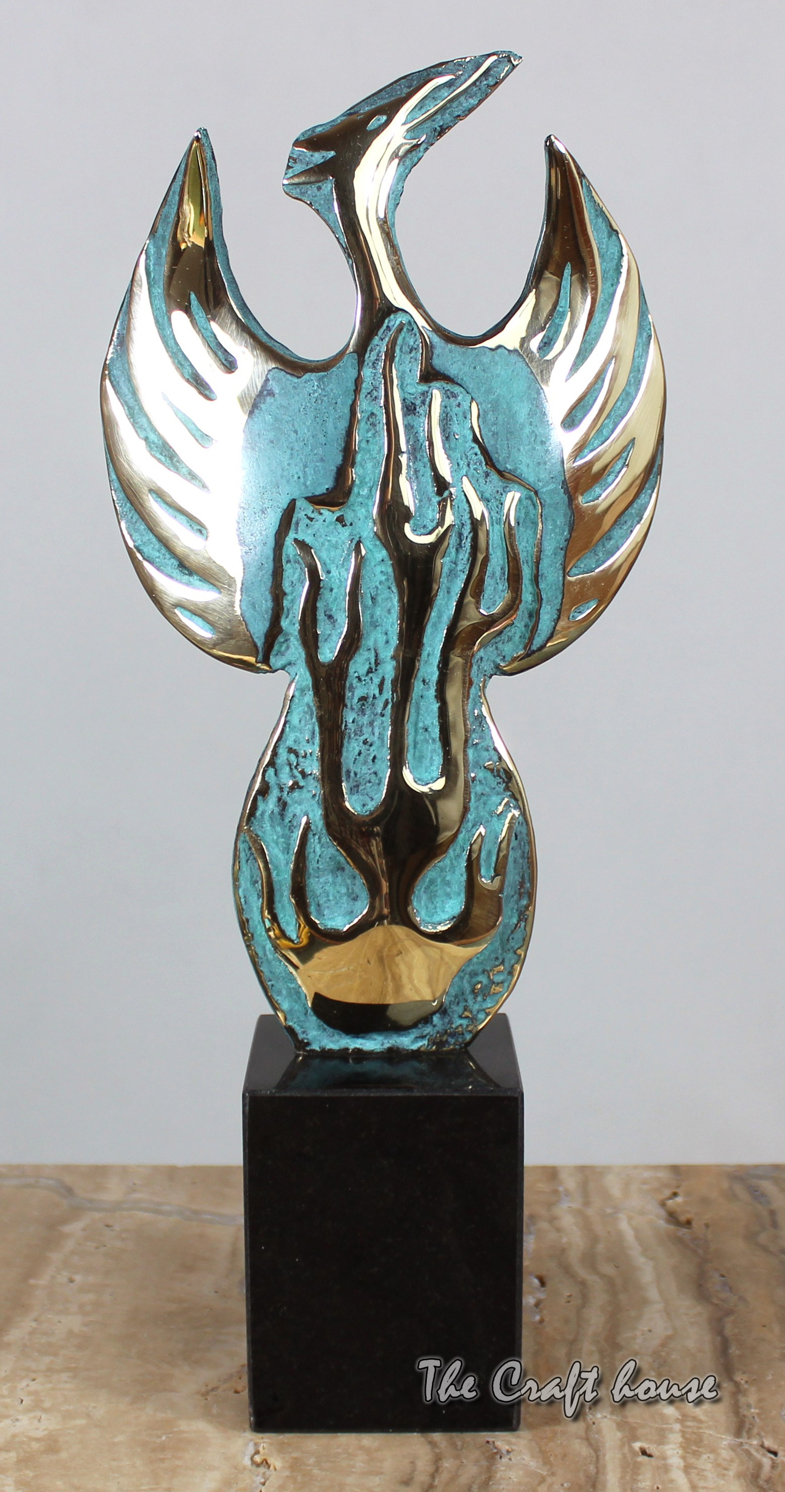 Bronze sculpture 'Phoenix'