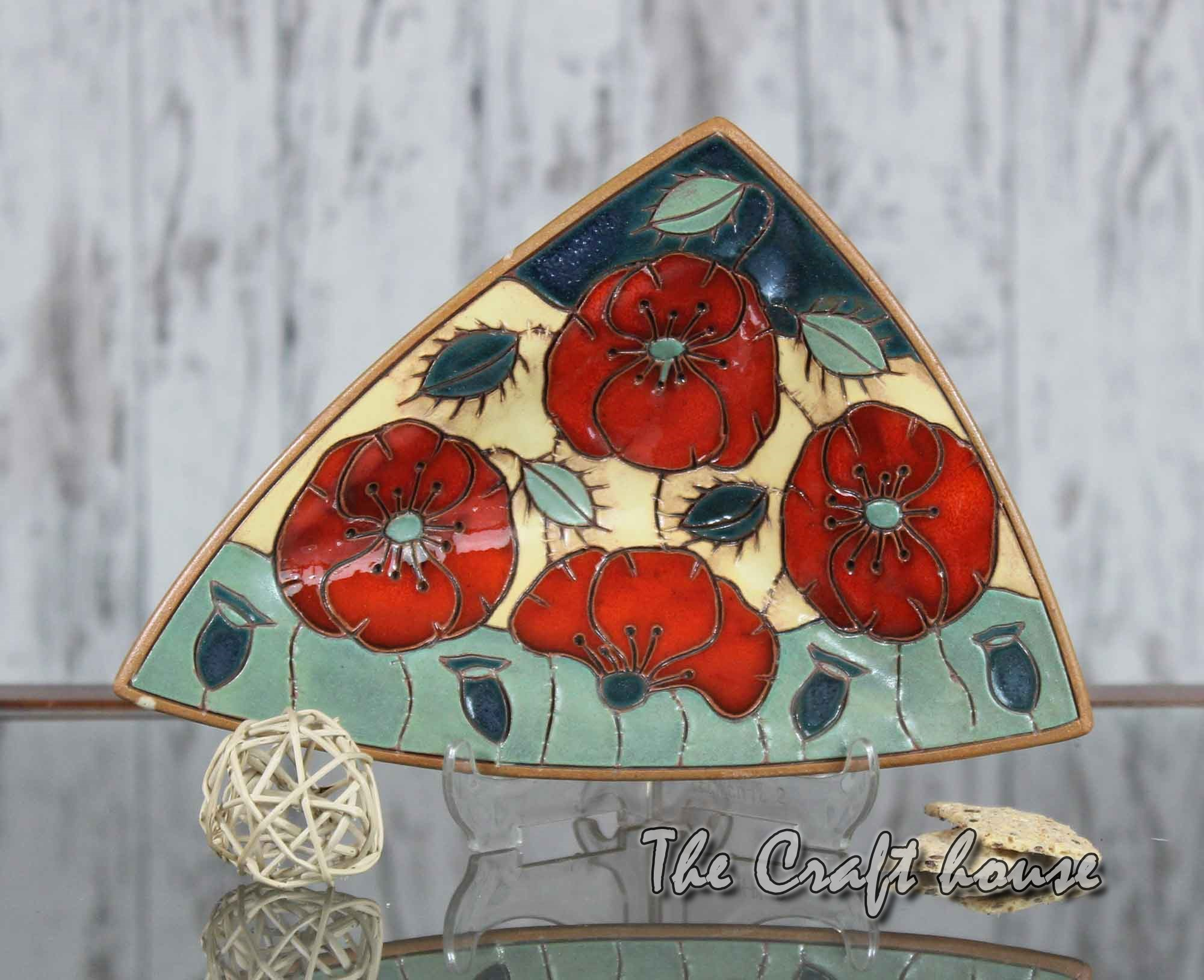 Ceramic plate 'Poppies'