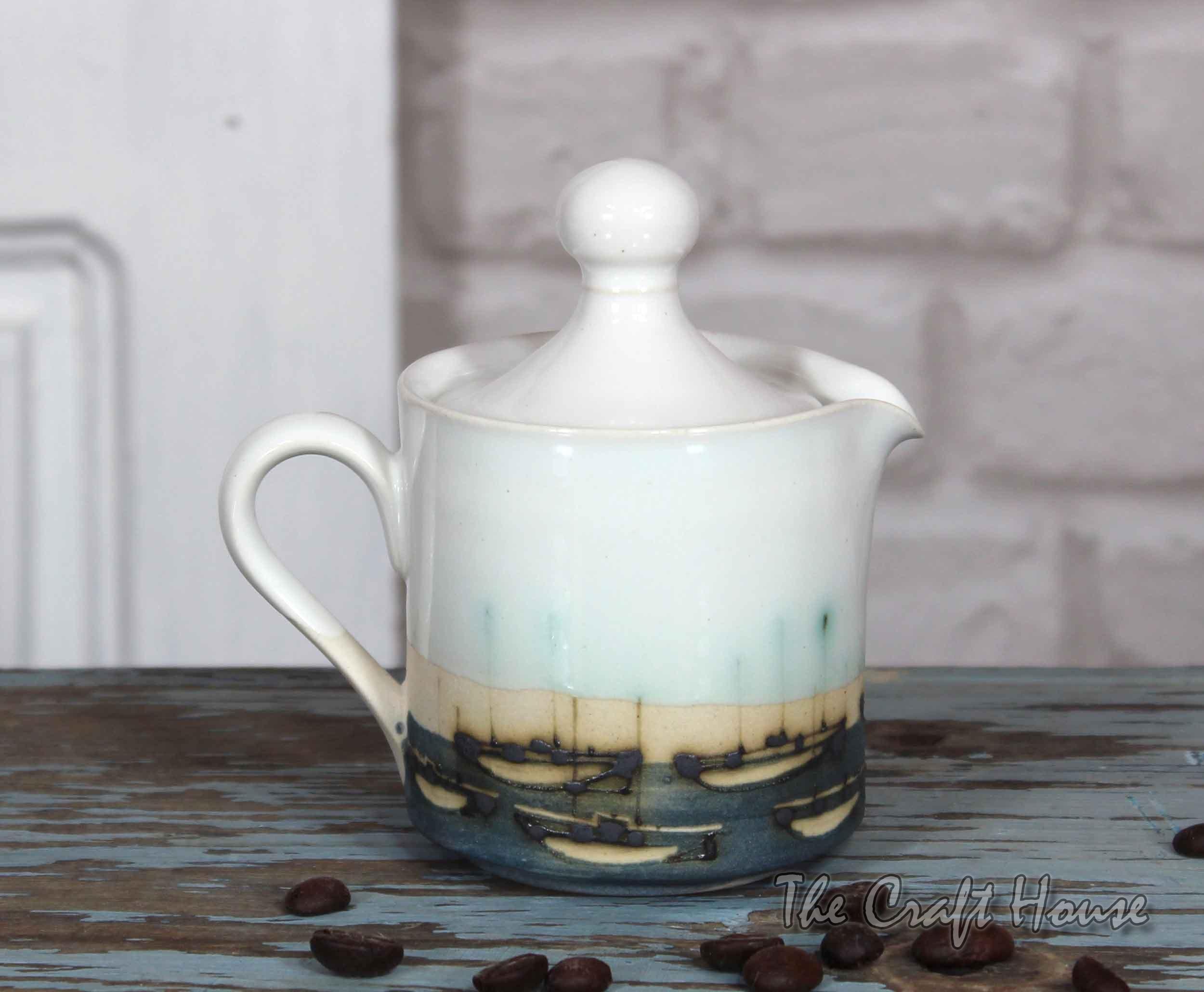 Milk jug ' Boats '