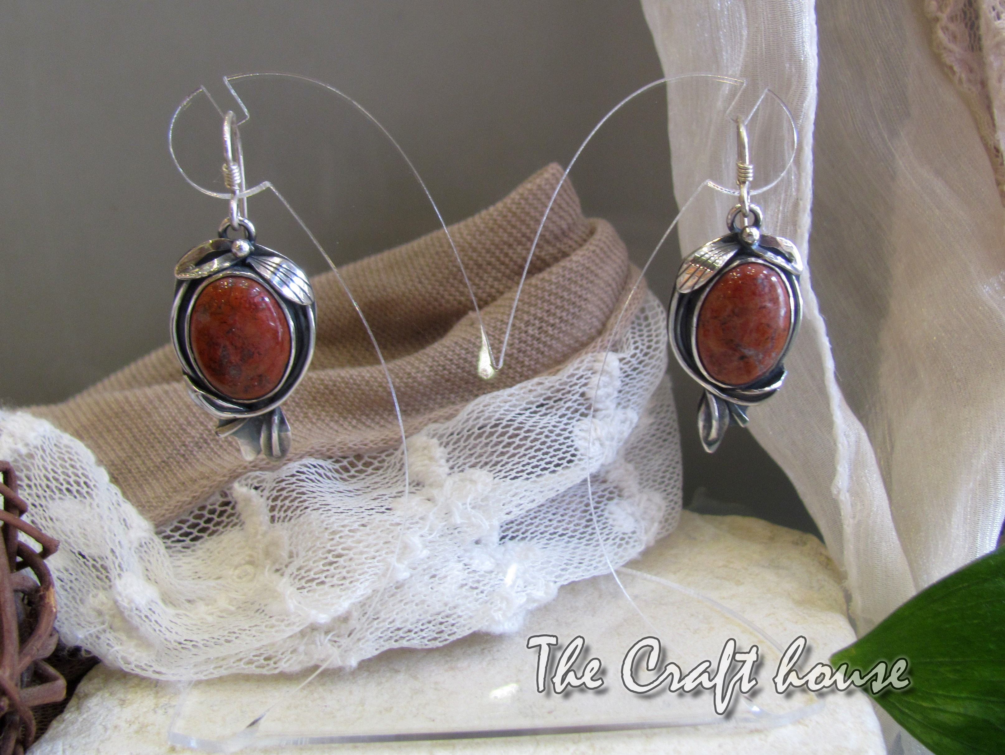 Silverearrings with Agate