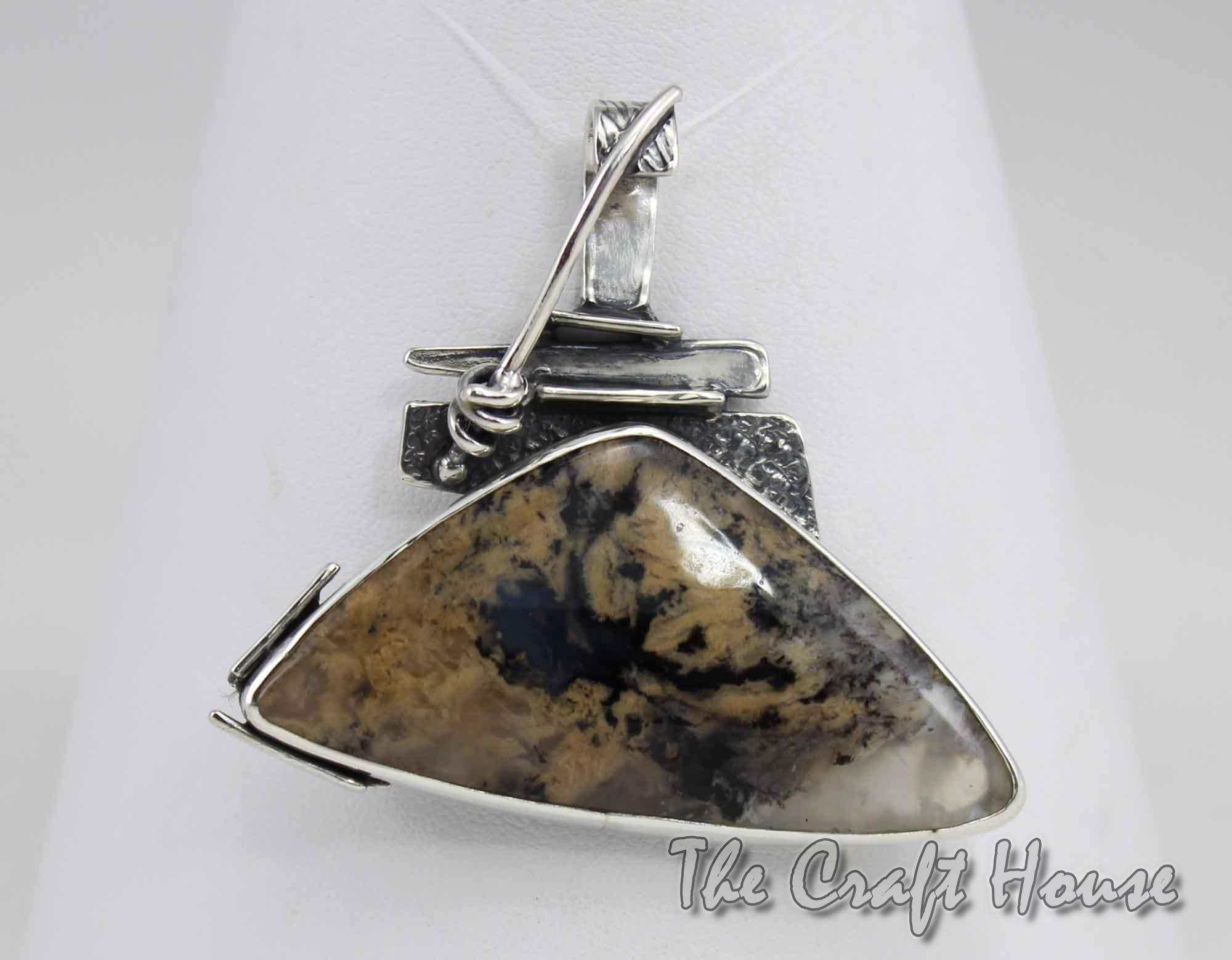 Сребърен медальон с Ахат