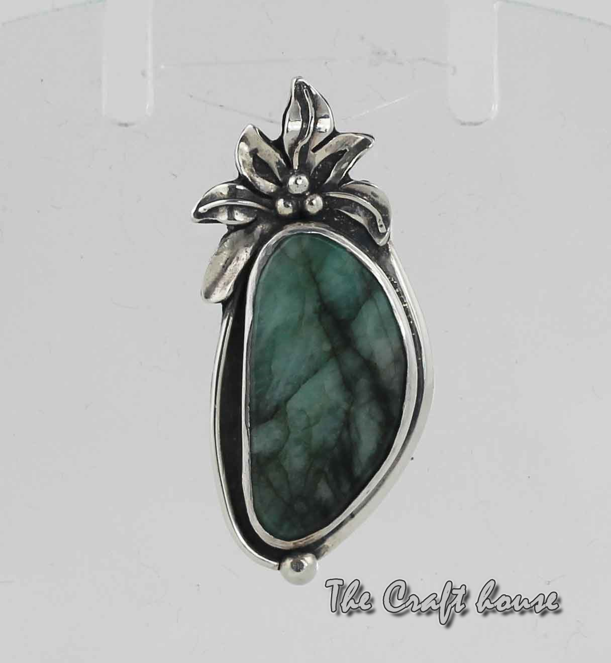 Silver pendant with Еmerald