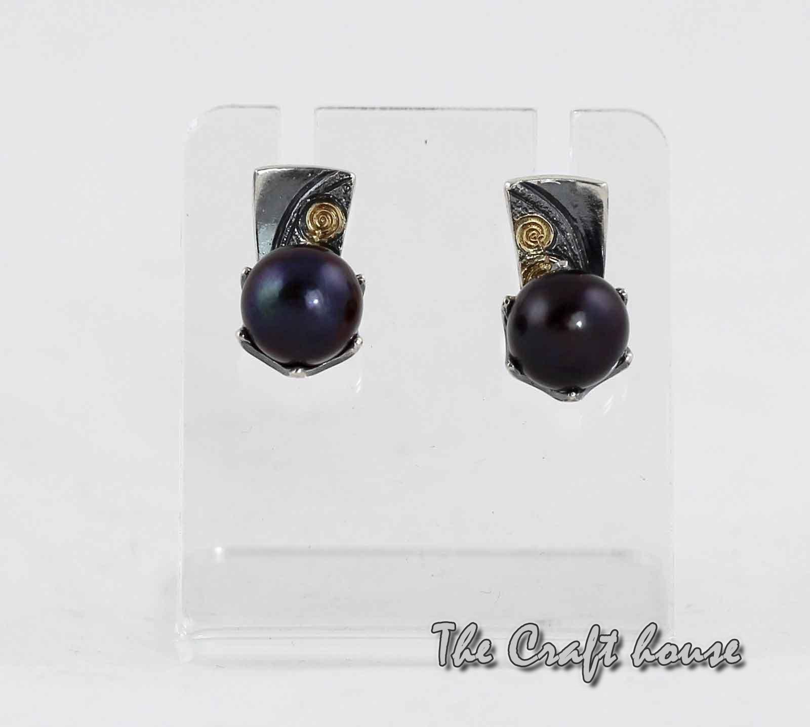Silver earrings 'Rosetta'