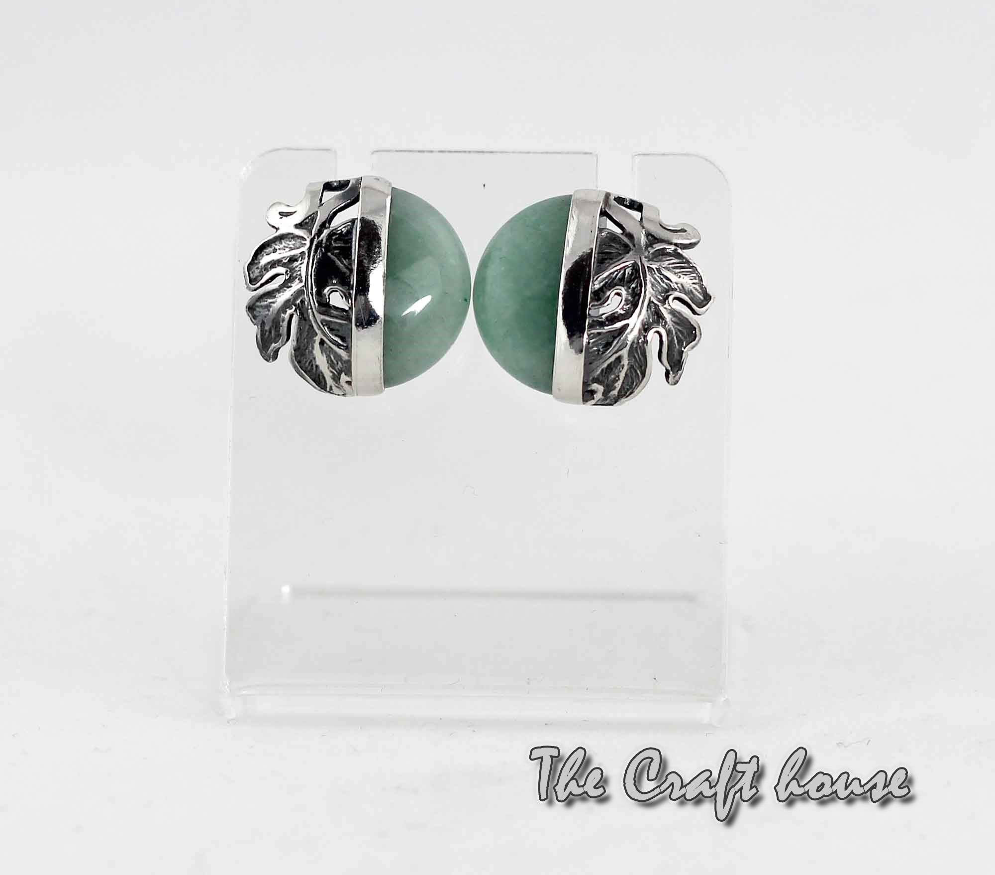 Silver earrings with Aventurine