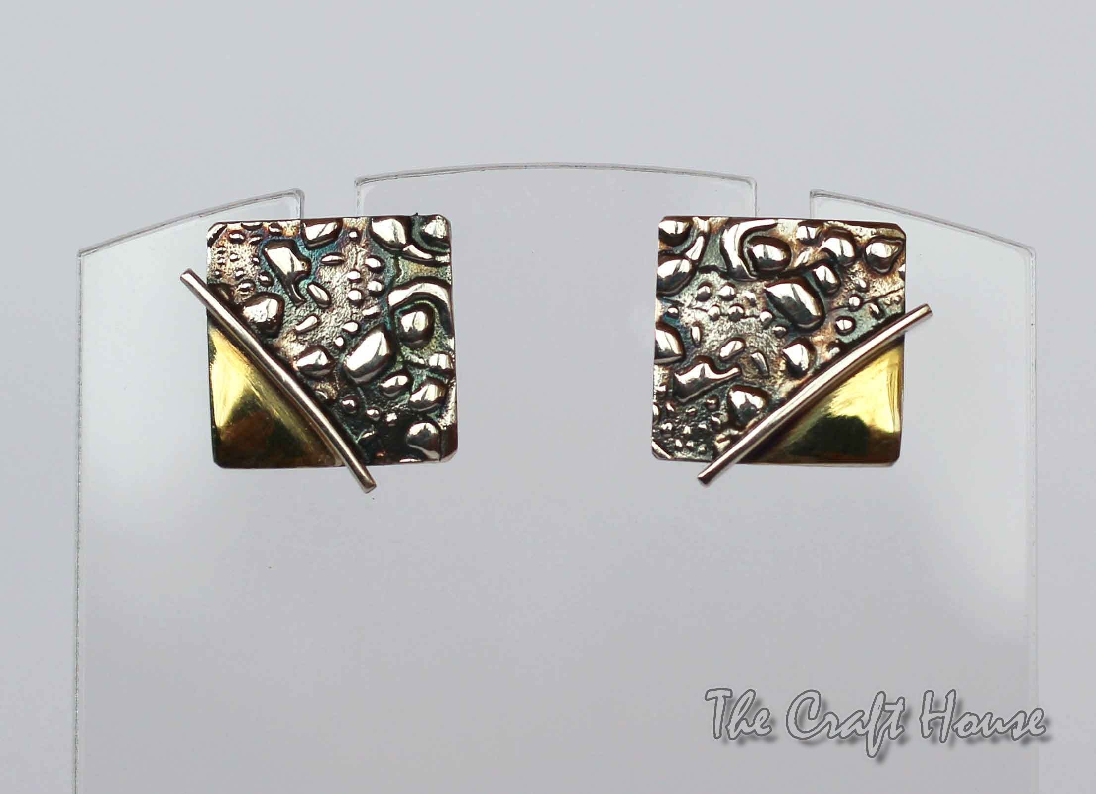 Silver earrings with gold - plating