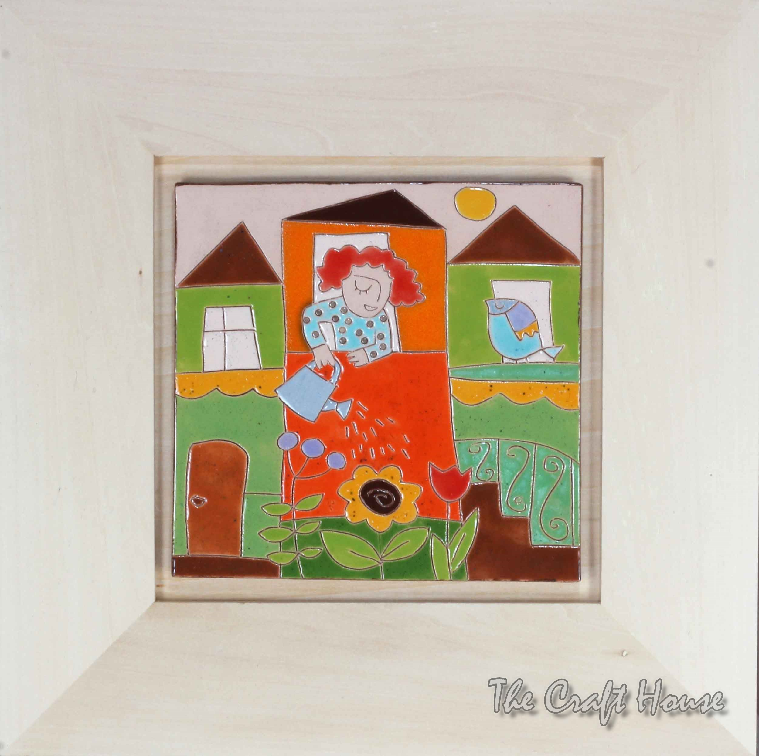 Керамично пано 'Градина под прозореца'