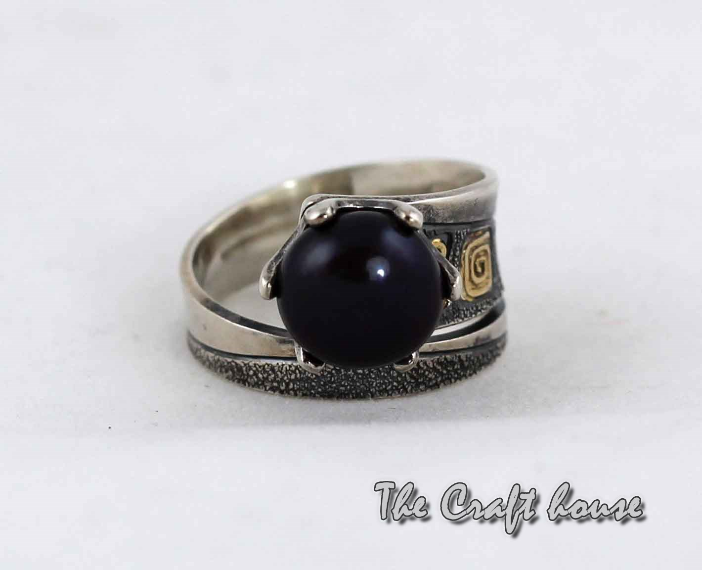 Silver ring 'Rosetta'
