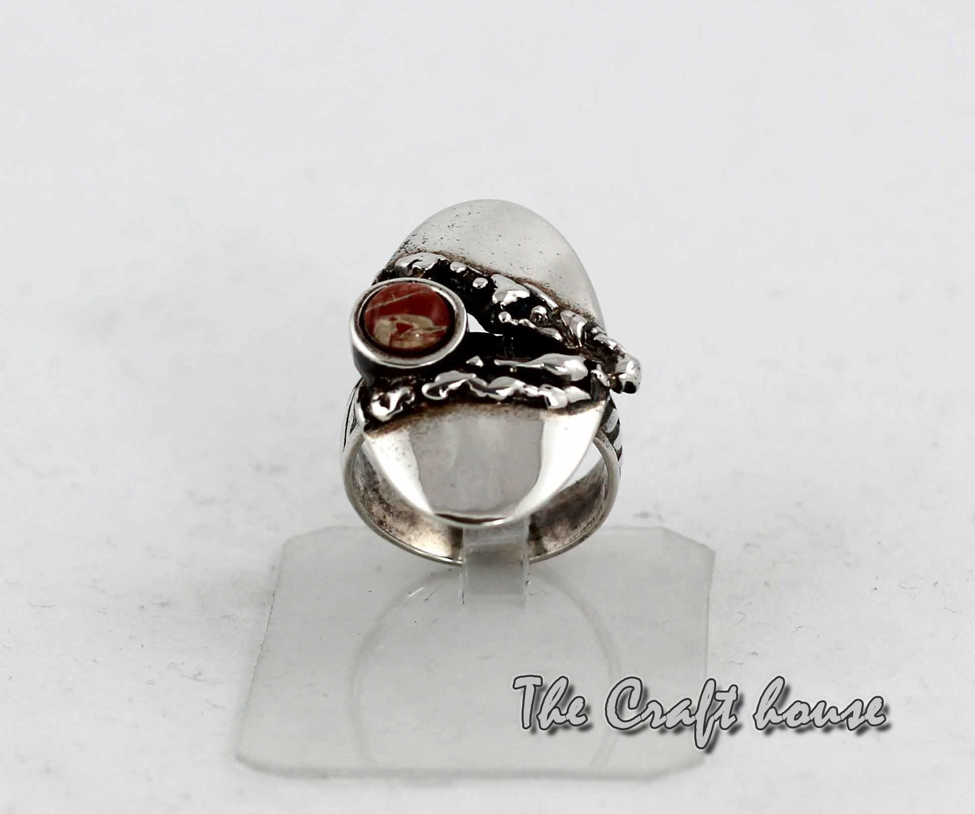 Silver ring with Jasper