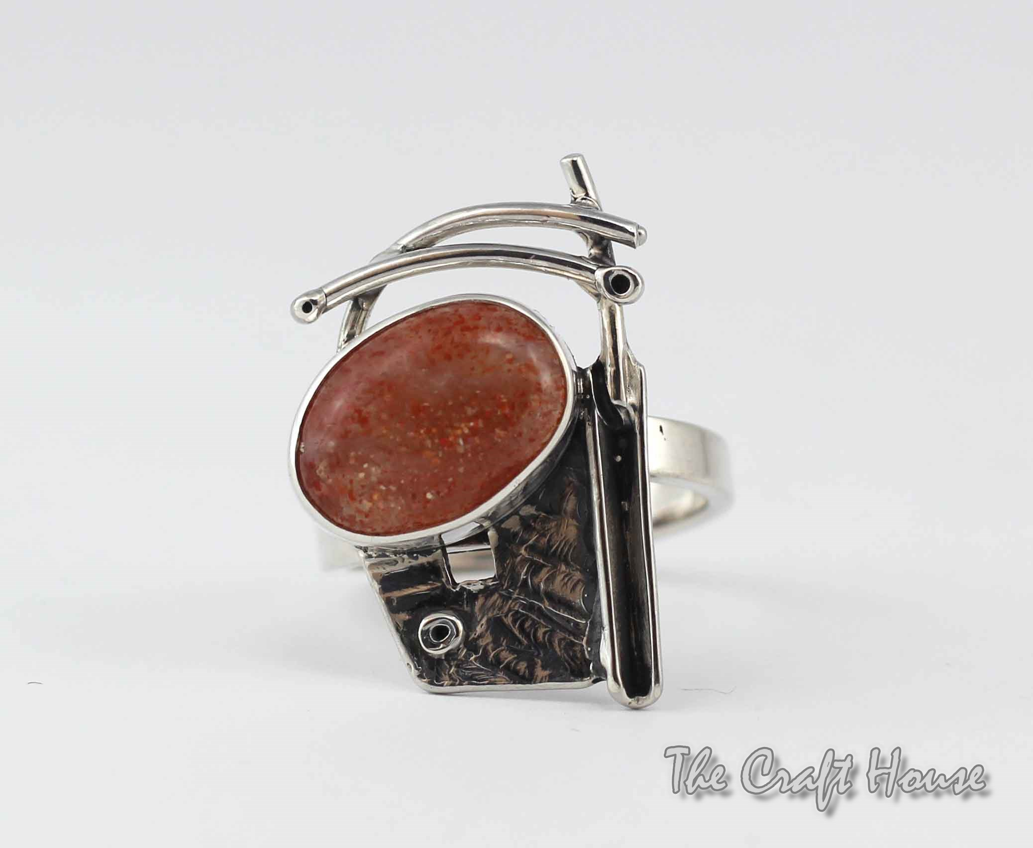 Silver ring with Sunstone