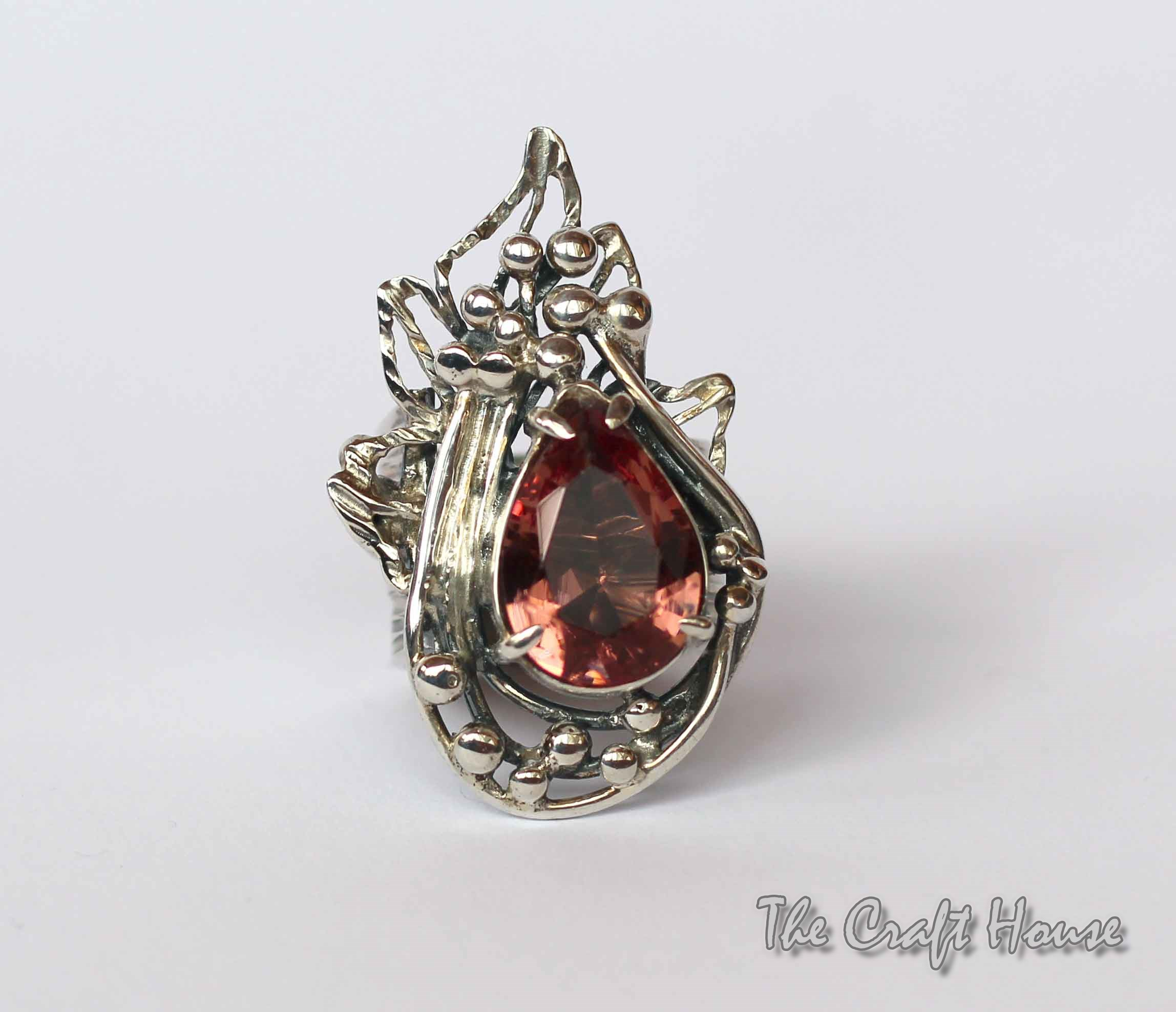 Silver ring with Zultanite