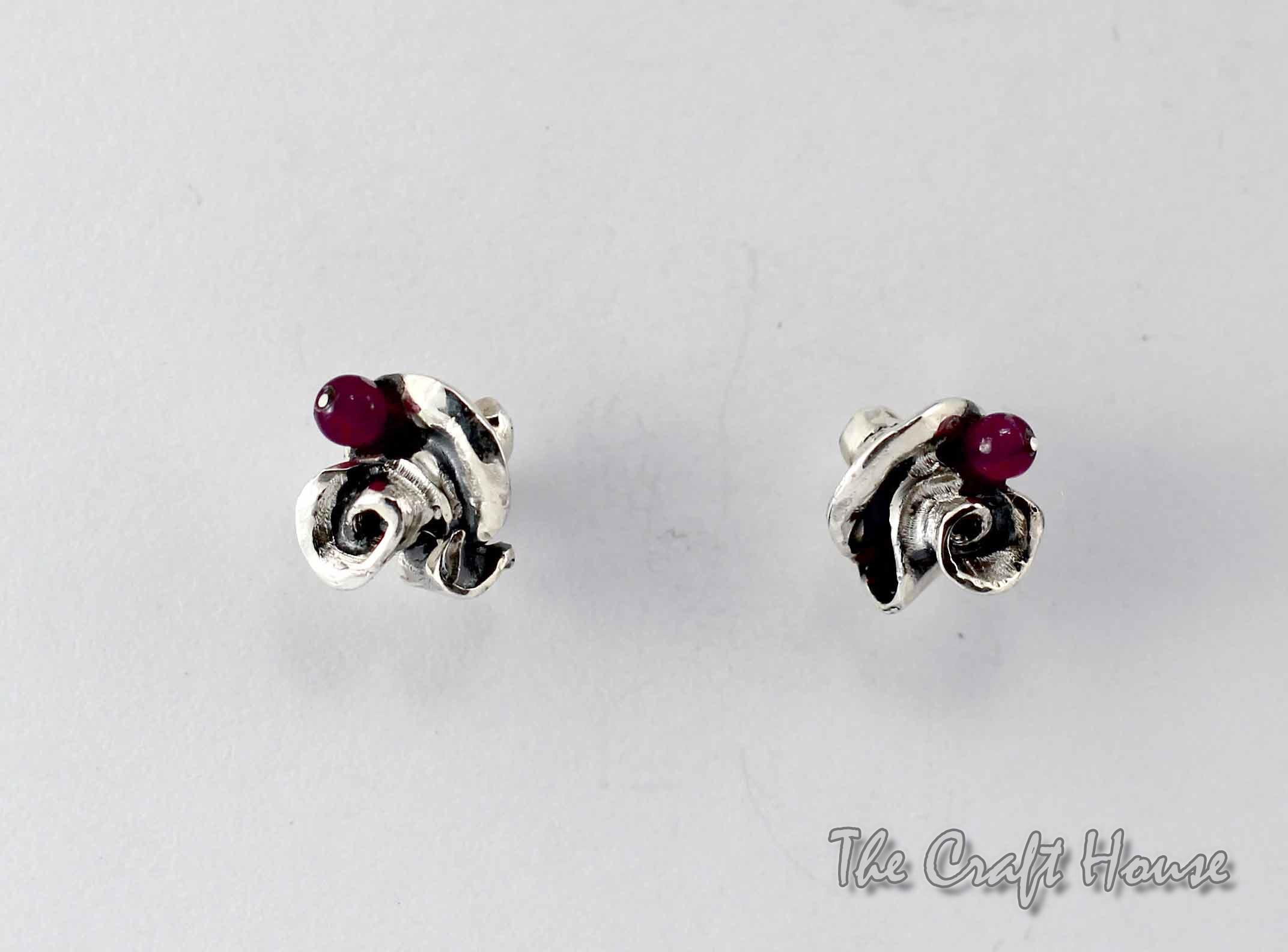 Silver earrings 'Rose'