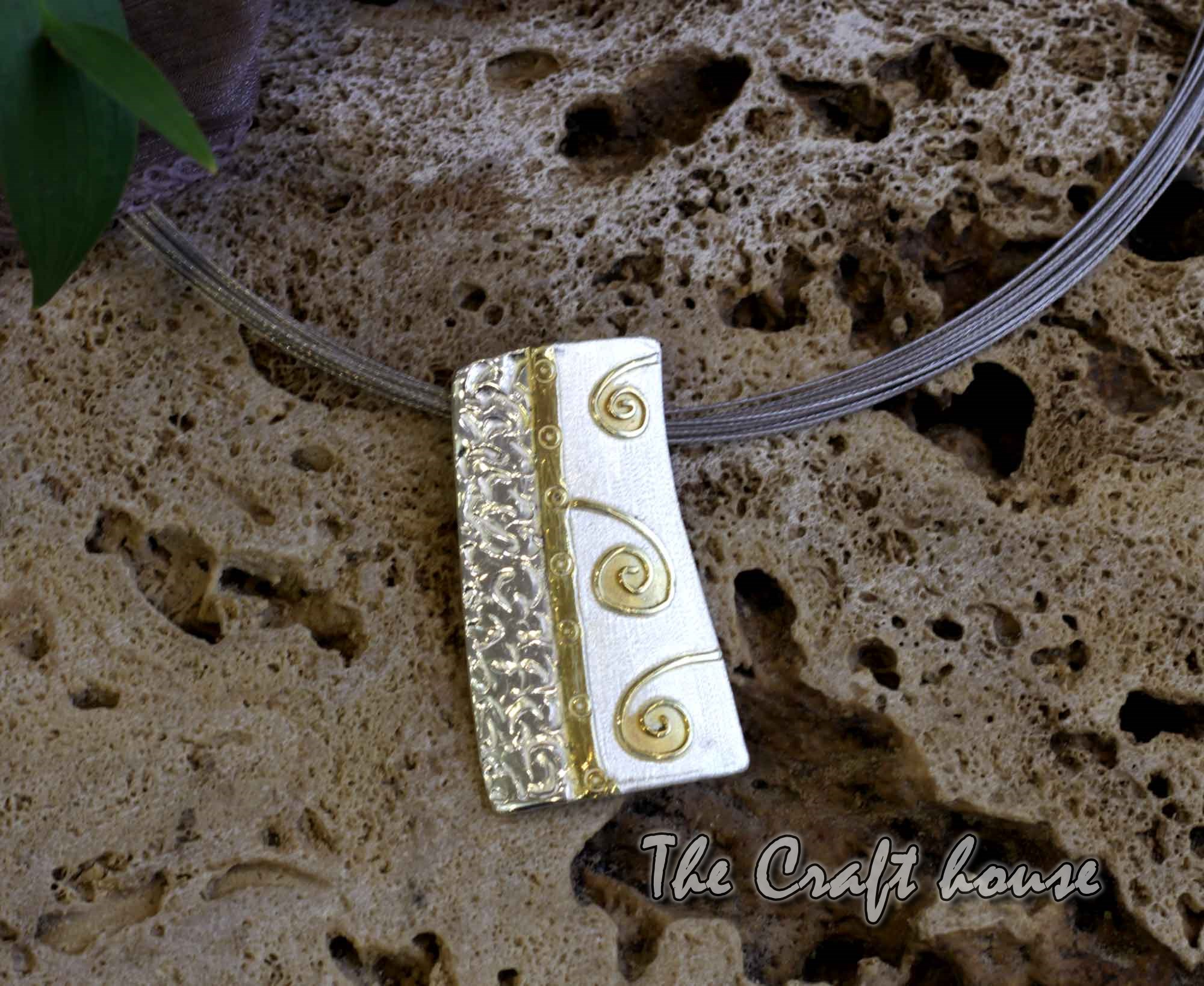 Silver necklace with gold-plating