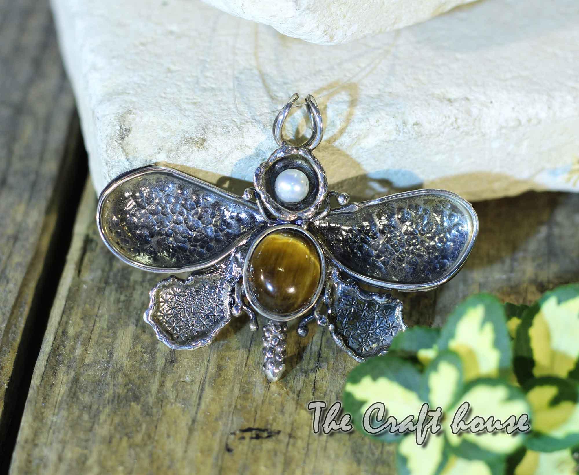 Silver pendant 'Beetle'