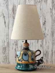 Керамична нощна лампа 'Сини ябълки'