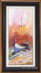 Пейзаж с лодка
