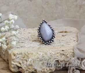 Сребърен пръстен с Ахат