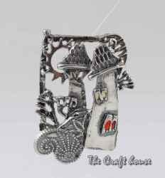 Сребърен медальон 'Къща'