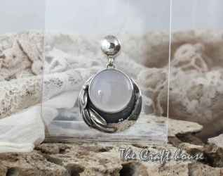 Сребърен медальон с Халцедон