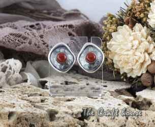 Silver earrings with Jasper