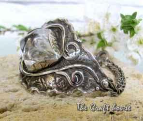 Silver bracelet with Rock crystal