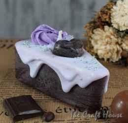 Ароматна свещ парче торта