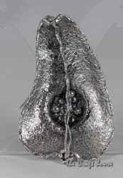 Сребърна брошка-медальон