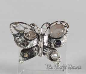 Сребърна брошка 'Пеперуда'