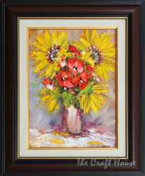 Sunflowers and poppies bouquet