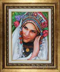 Bulgarian girl in traditional dress